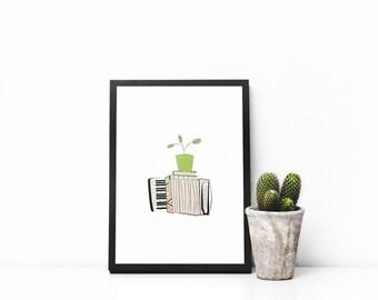 Grow the music - Digital Print - Digital printable illustration | Home decor | Wall decoration