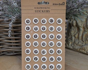 TYPEWRITER KEY Embellishments, Pack of Craft, card making, Scrap Booking Stickers