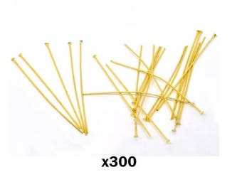 x 300 gold flat head nail Rod - 5cm