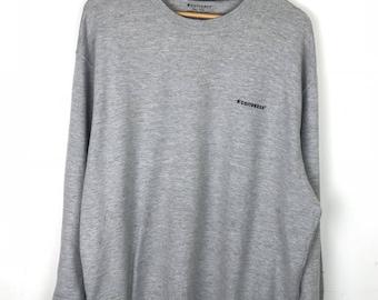 Rare!!! Converse Sweatshirt Pullover Spellout Small Logo Embroidery Jumper