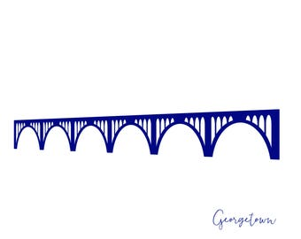 Washington DC Georgetown Key Bridge Card A2