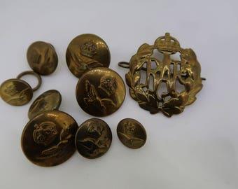 WW2 RAF Brass hat badge & buttons