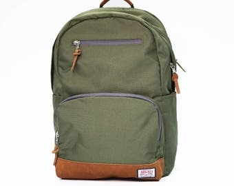 Fossa Backpack GREEN, Backpack Men, Nylon Backpack, Backpack laptop, Large volume backpack