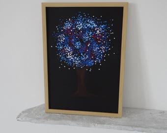 Design tree colored on black background