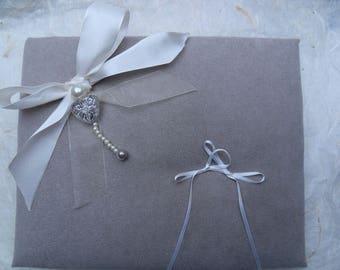 the satin knot ivory ring bearer
