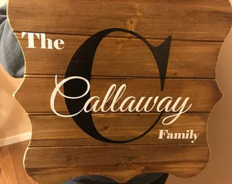 Last name sign- personalized name sign- wedding name sign