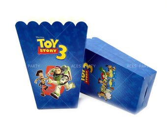 6x Toy Story Lolly Loot Party Popcorn Box Bag. Party Supplies Banner Bunting Flag Deco Favour