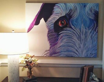 "Custom Pet Portraits - Acrylic on Canvas 30"" x 40"""