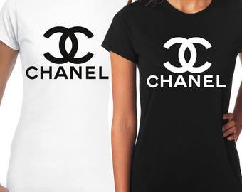 Elegant women's black and white t shirts