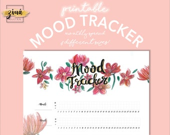 Monthly Mood Tracker   PDF Download   Happy Planner   Daily Planner   Printable Planner   Task Tracker   Printable pdf   Planner Printable