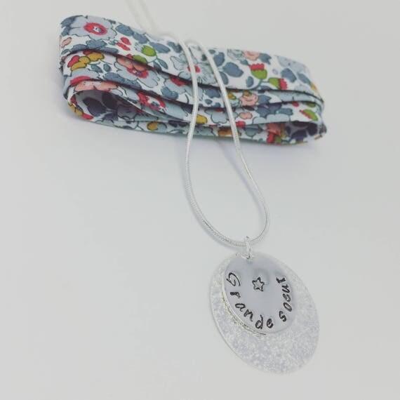 Custom chain necklace - custom Silver Pendant (engraving choice)