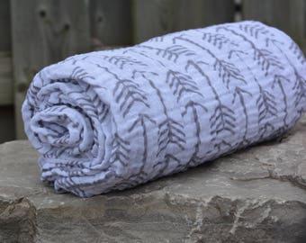 Swaddle Blanket/ Double Gauze Blanket/ Double Gauze Swaddle/ Muslin Baby Blanket/ Baby Shower Gift