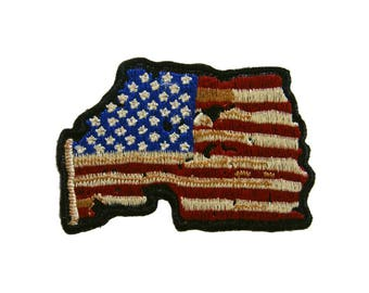 American Flag Iron On Patch US Flag Embroidered Applique Jeans Patches For Jackets