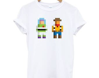 Buzz and Woody Pixels - Toy Story T-Shirt / Top - Fun Cases