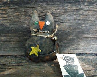 Black Cat,  Tuck, Ornament or Bowl Filler