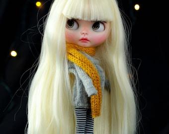OOAK custom NEO Blythe long blond hair LANA