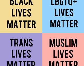 Black, Trans, Muslim, LBTGQ+ Lives Matter Sticker