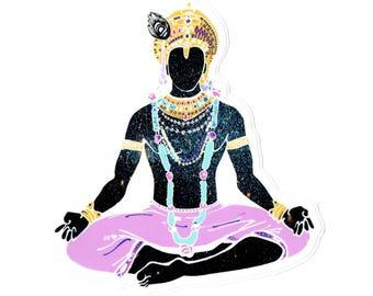 Cosmic Krishna sticker