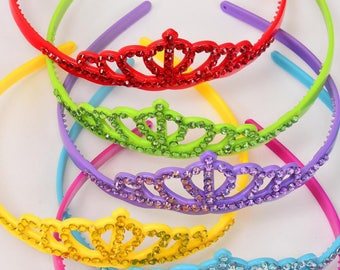 Headband Tiara Acrylic Color Stones