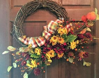 Indian Summer fall wreath