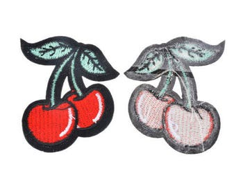 PATCH cherry coat with tails and leaves