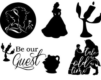 Beauty and the Beast decal BATB Decals window decal tale as old as time laptop decal