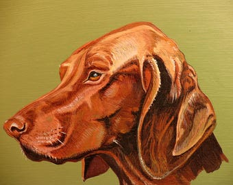 Dog picture, Hungarian hound, Gift for Hunter.