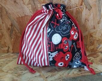 Snack bag / bag in skull blanket
