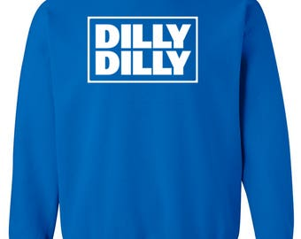 DILLY DILLY Square Design Unisex Crew Neck Sweatshirt