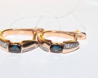 14K 585 Rose Gold Earrings gr 3,42