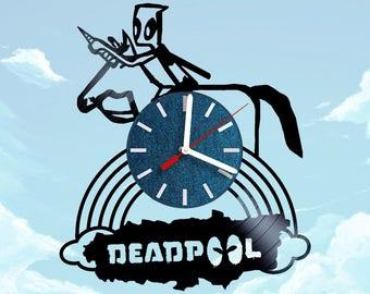 Deadpool Kids Vinyl Record Wall Clock