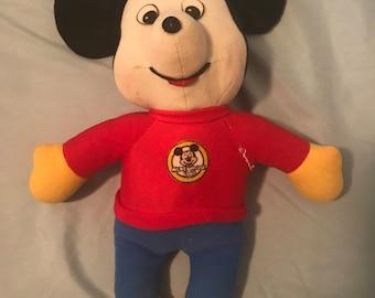 Mickey Mouse Club Knickerbocker Vintage Walt Disney Plush
