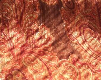 Copper Scarf Paisley Copper Shawl Organza Scarves Boho Paisley Shawl Bohemian Scarves Silk Copper Scarf Bandana Wrap Hijab Women Silk Scarf