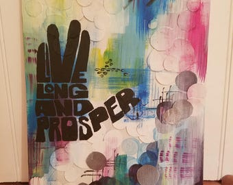 Live Long and Prosper Painting 11x17