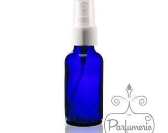 Set of 24: Cobalt Blue 1 oz./30 ml Fine Mist Atomizer Essential Oil Perfume Cologne Refillable AROMATHERAPY SPRAY