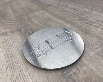 Stainless Steel Glass Coaster Engraving