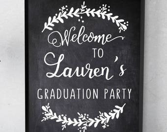 GRADUATION Party WELCOME SIGN-Printable- Graduation welcome, grad party decor, high school college grad, welcome signs- custom