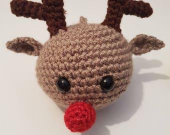 Crochet Rudolph Bauble