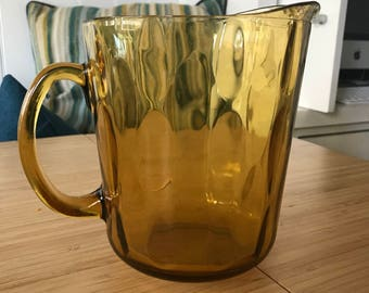 Vintage Amber Indiana Glass Pitcher