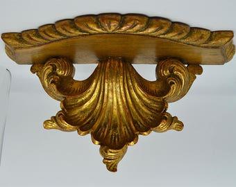 Vintage-Peanha Golden Wood-Wood golden corbel