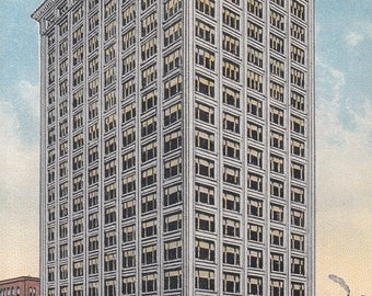 Chicago, Illinois Vintage Postcard - Republic Building State and Adams Streets