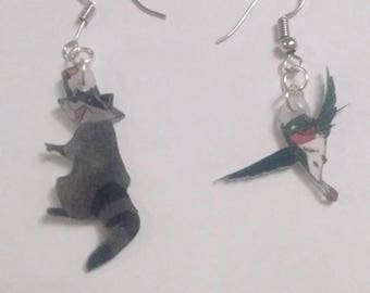 Flirt Pocahontas and Meeko earrings