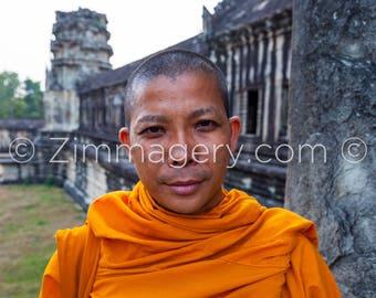 Buddhist Monk, Angkor Wat Temple, Cambodia - 2014