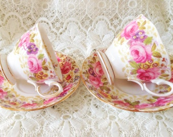 Royal Albert Dames and Men's Cup and saucer. Serena.
