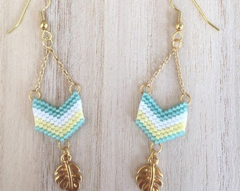 Tropical Rafter earrings gold