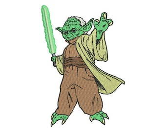 Yoda Embroidery Design - 4 SIZES