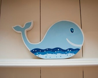 Hand painted personalised whale