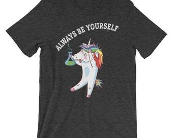 Always Be A Unicorn Shirt - Always Be Yourself - unicorn dabbing shirt, funny unicorn shirt, unicorn dabbing svg, rainbow unicorn shirt tee
