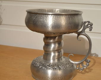 Tin Cup, a traditional Norwegian,vintage, collectible. 1960-s