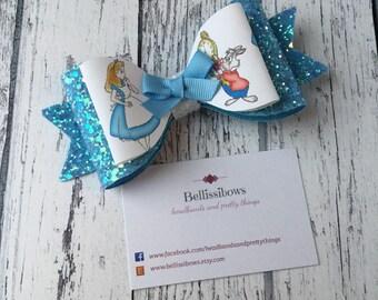Alice in Wonderland inspired hair bows